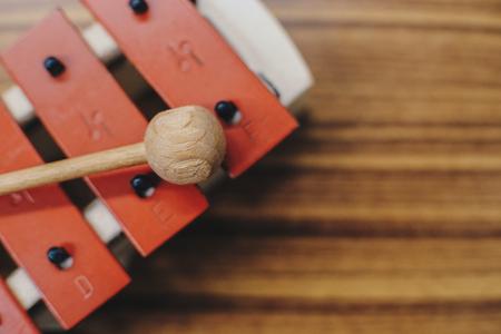 xilofono: Xylophone and wooden stick Foto de archivo