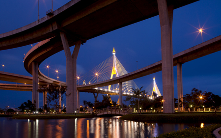 The industrial ring road, in Bangkok, Thailand   photo