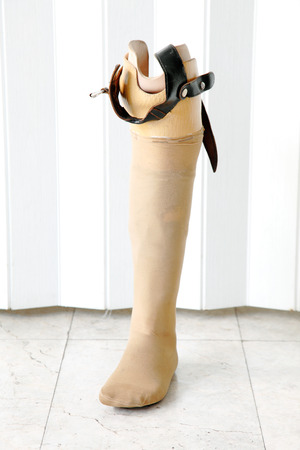 prosthetic: prosthetic leg Stock Photo