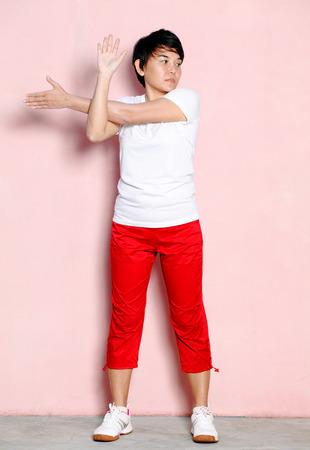 arm: Arm stretching Stock Photo