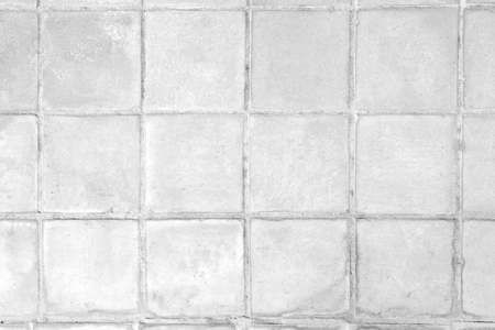 White bricks tile seamless background and texture.