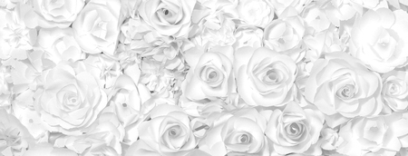 Black and white flowers paper background pattern lovely style.