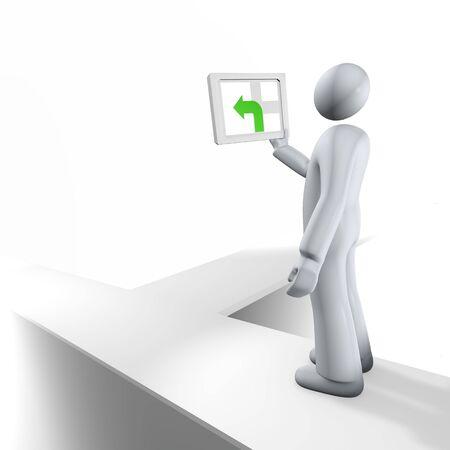 streifzug: Zusammenfassung mit GPS-Zeichen wie in der Hand, Bildschirm mit irref�hrenden Angaben. Lizenzfreie Bilder