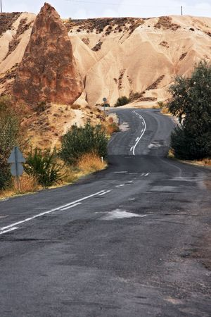 High mountains winding asphalt road  Stock Photo - 4594010