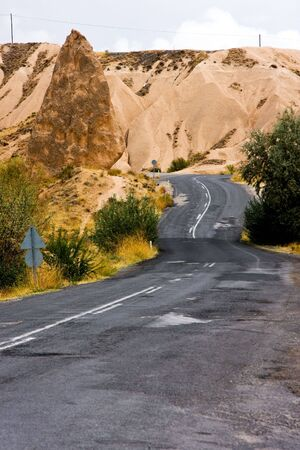 High mountains winding asphalt road Stock Photo - 4617823