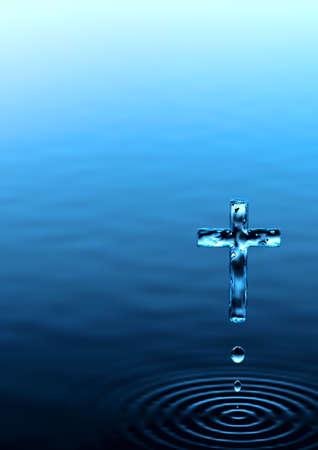 rood: Holy Cross - religious metaphor v2 vertical Stock Photo