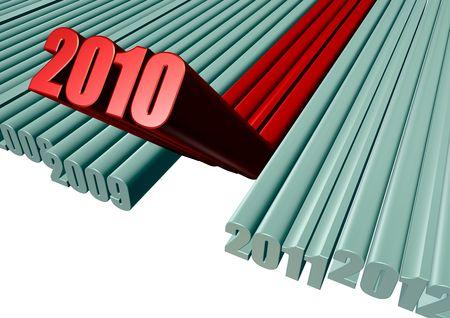 2010 New Year  illustration  Stock Photo