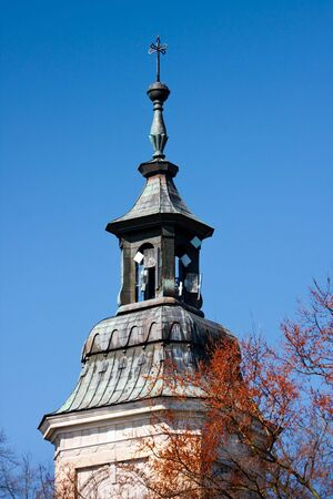 Tower of a church with GSM- Internet antennas - Czersk / Poland Stock Photo - 6970252