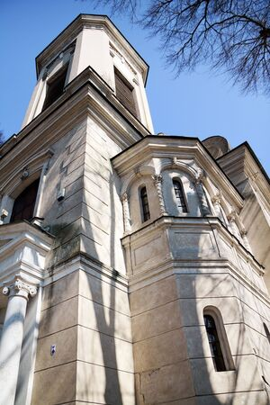 Church of Transfiguration in Czersk / Poland Stock Photo