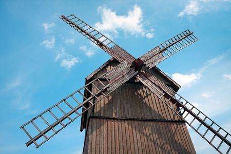 Wooden Windmill in Tykocin / Poland