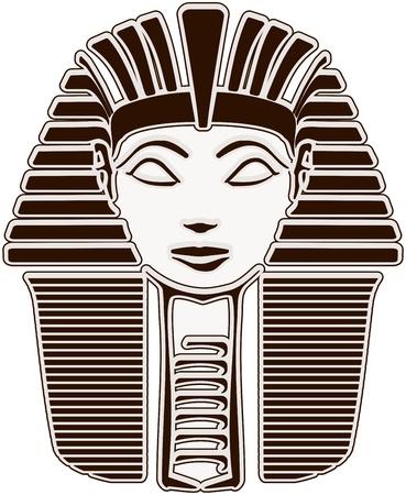 esfinge: Hatshepsut. Cara gran ESFINGE fara�n - esquema Foto de archivo