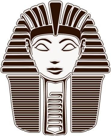 egyptian woman: Hatshepsut. Great Pharaoh SPHINX face - outline