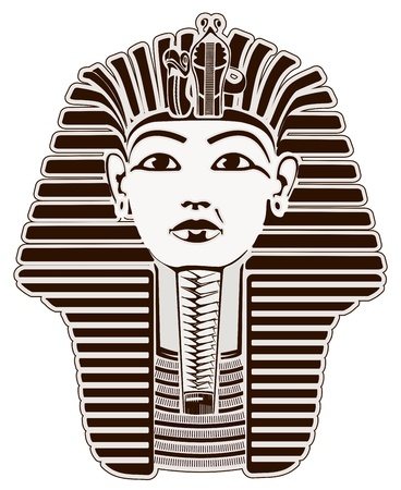 Tutankhamun  Pharaoh outline Stock Photo