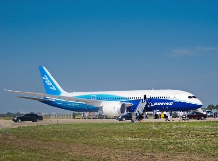 Boeing 787 Dreamliner at International Aviation & Space Salon in Moscow, August 16 2011, ZHUKOWSKY Russia Editorial