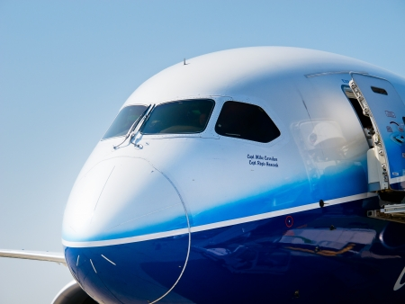 Boeing Dreamliner at International Aviation & Space Salon in Moscow MAKS, August 16 2011, ZHUKOWSKY Russia Editorial