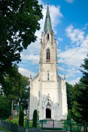 Neo-Gothic Church of St  Adalbert   Jablonowo Pomorskie   Poland 1860