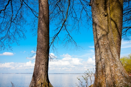 masuria: View on the large, calm and blue Niegocin lake in Masuria Province - Poland
