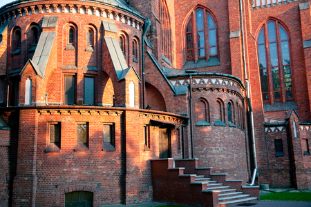 neo gothic: Church of the Immaculate Conception in Pruszkow   Masovia   Poland  XIX century