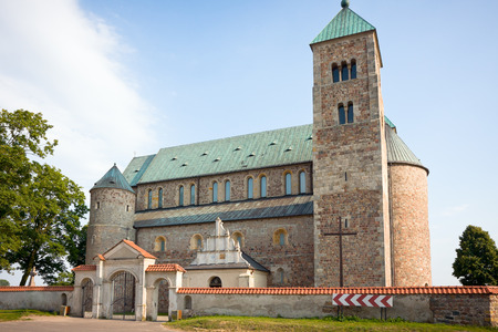 Church of St  Mary and St  Alexius in Tum  near Leczyca    Poland XII   XIV century, romanesque style, northern side