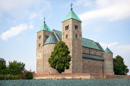 Church of St  Mary and St  Alexius in Tum  near Leczyca    Poland XII   XIV century, romanesque style, western south side