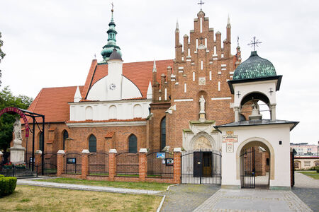 sacral: Bernadine church and monastery, late gothic sacral architecture  April 08 2013 Poland Stock Photo