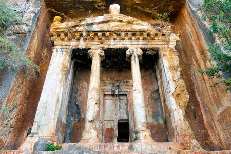 fethiye: Tomb of Amyntas,  Fethiye Stock Photo