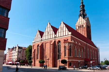St  Nicholas Cathedral 13th-century Gothic church, one of the tallest sacral buildings in Poland  97m , Mostowa Street  July 17 2011 Poland