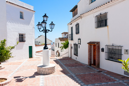 Mijas,  white houses village in Spain, Square - Plaza Francisco Gimenez Alarcon