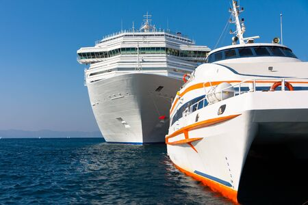 Luxury tourist ship and boat