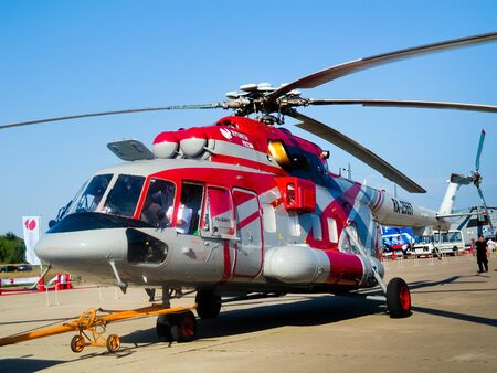 Multifunctional and versatile helicopter Mi 8AMT  Aviation   Space Salon in Moscow MAKS, August 17 2011, Russia