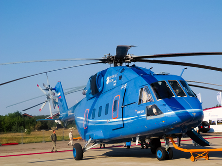 Mi 38 helicopter, Russian  military and civil  transport Aviation   Space Salon in Moscow MAKS, August 17 2011, Russia