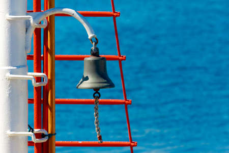 Ship s Bell, blue background