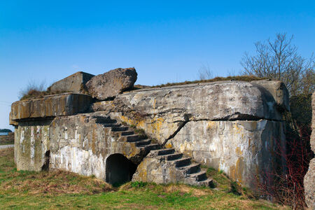 First World War Bunker of the Osowiec Fortress in Poland Stock Photo