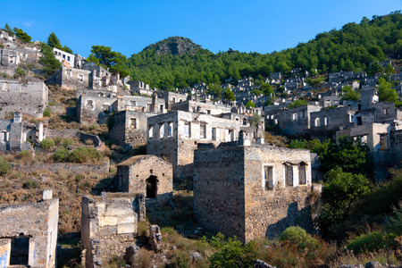 kayakoy: Kayakoy Town in Turkey, abandoned houses