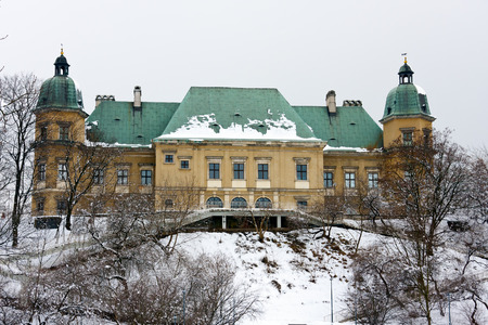 Ujazdow Castle in winter time, Warsaw Stock Photo - 27694430