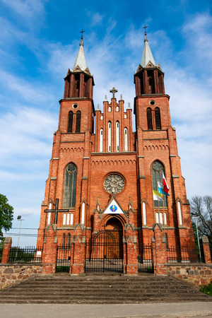 neogothic: Neogothic Church in Plonka Koscielna