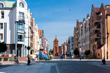 Elblag City, Poland Main street of the old town  Stary Rynek