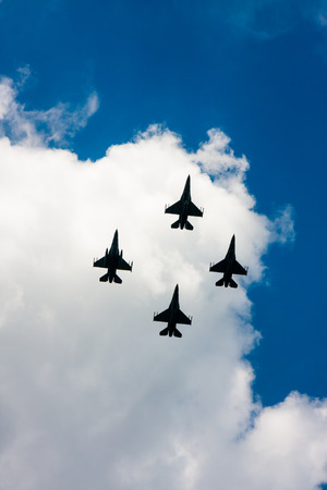 F-16 Fighting Falcon fighters in flight  Polish Armed Forces Day Editorial
