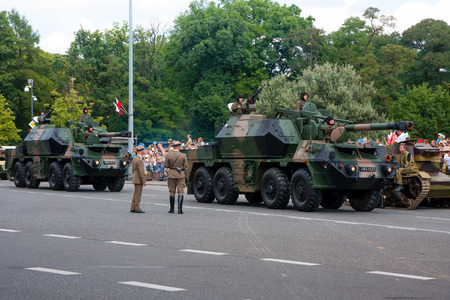 propelled: Self propelled gun howitzer Dana 152  Warsaw - Polish Armed Forces Day Editorial