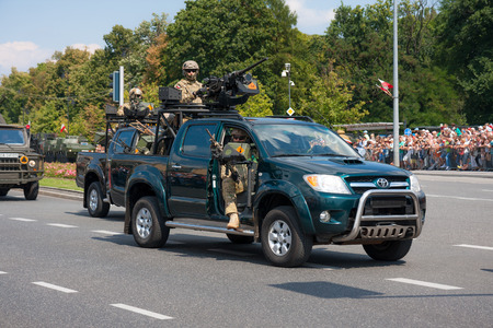Elite units GROM in armored Toyota Hilux
