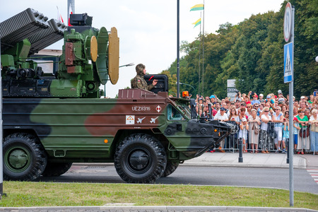 anti nato: Air defense missile system 9K33 Osa, Gecko. Polish Armed Forces Day. 1200 Polish and over 90 foreign soldiers, over 120 military vehicles, more than 50 aircraft