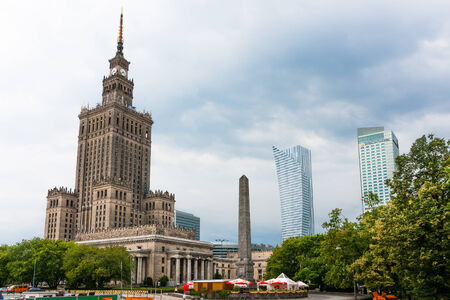 popular science: Center of Warsaw City, Palace of Culture and Science and skyscrapers Editorial