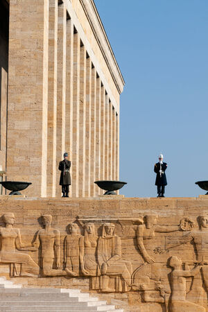 ataturk: Guardsmen of Ataturk Mausoleum, tomb of Mustafa Kemal Ataturk Editorial