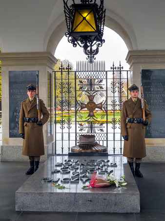 Tomb of the Unknown Soldier in Warsaw