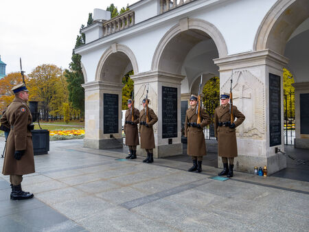 Tomb of the Unknown Soldier and the Honor Guard