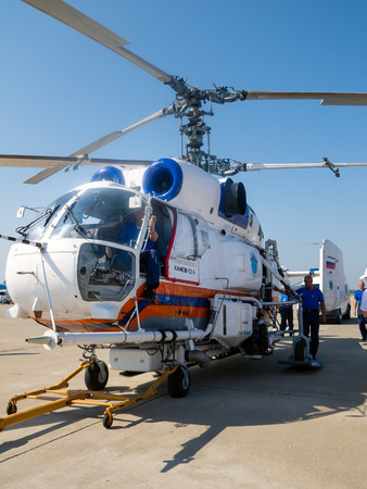 Helicopter Kamov Ka-32 Fire Attack System, aerial firefighting Editorial