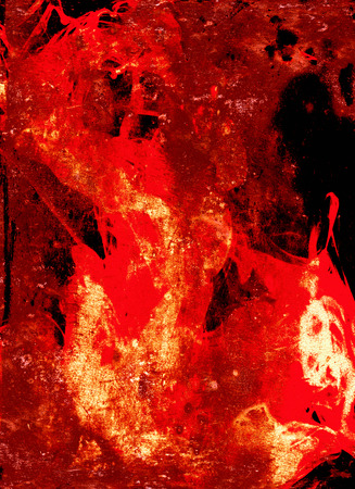 spillage: Abstract firewall, wall of fire Stock Photo
