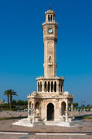 East side of the Clock Tower, symbol of Izmir Stock Photo - 38183903