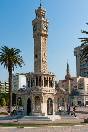 Izmir while Kurban Bayrami, Turkish Holidays. Clock Tower Editorial