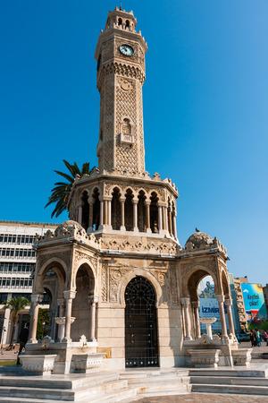 Clock Tower, Ottoman architecture, Turkey, Izmir Stock Photo - 38183915